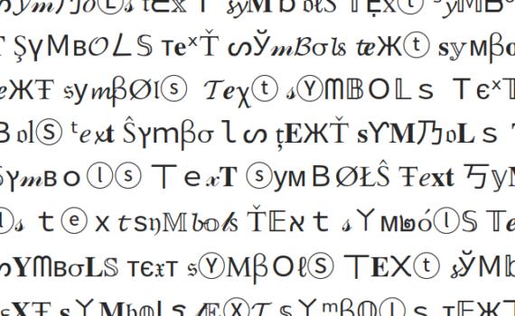 Полиглотом можешь ты не быть, но Special Symbols знать обязан!